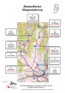 Karte Klangwanderweg